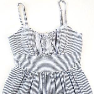 B SMART Blue and White Stripe Dress
